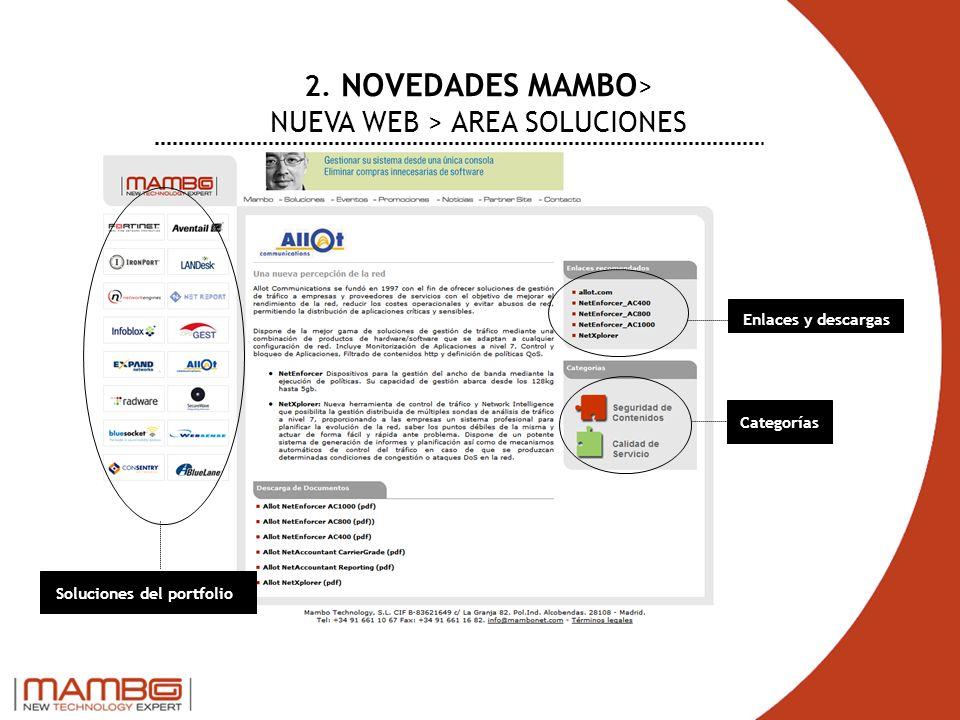 2. NOVEDADES MAMBO> NUEVA WEB > AREA SOLUCIONES