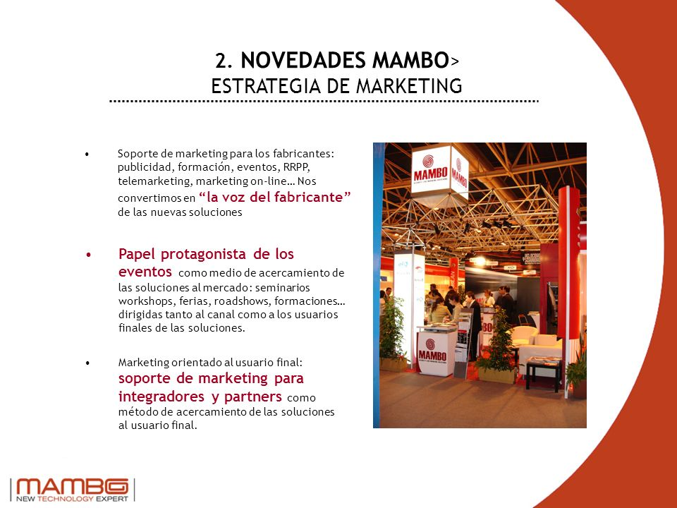2. NOVEDADES MAMBO> ESTRATEGIA DE MARKETING