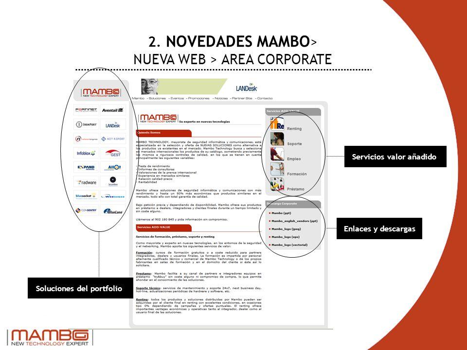 2. NOVEDADES MAMBO> NUEVA WEB > AREA CORPORATE