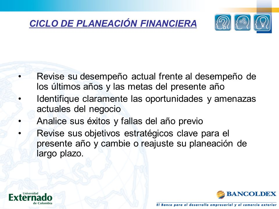 CICLO DE PLANEACIÓN FINANCIERA