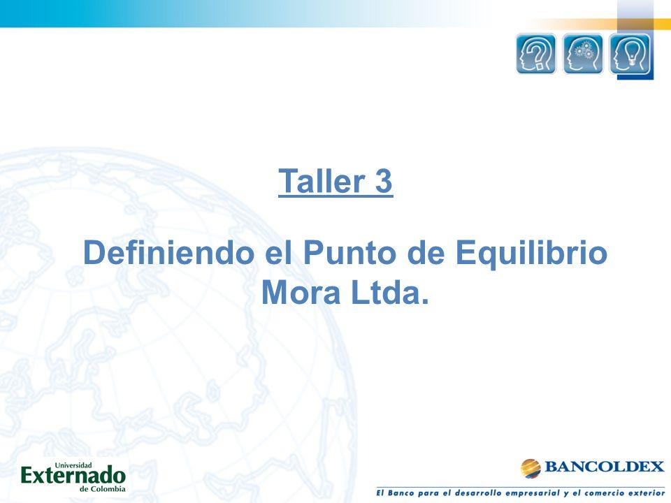 Definiendo el Punto de Equilibrio Mora Ltda.