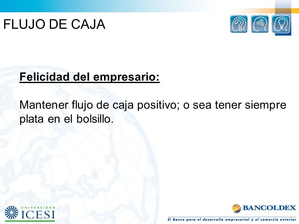 FLUJO DE CAJA Felicidad del empresario: