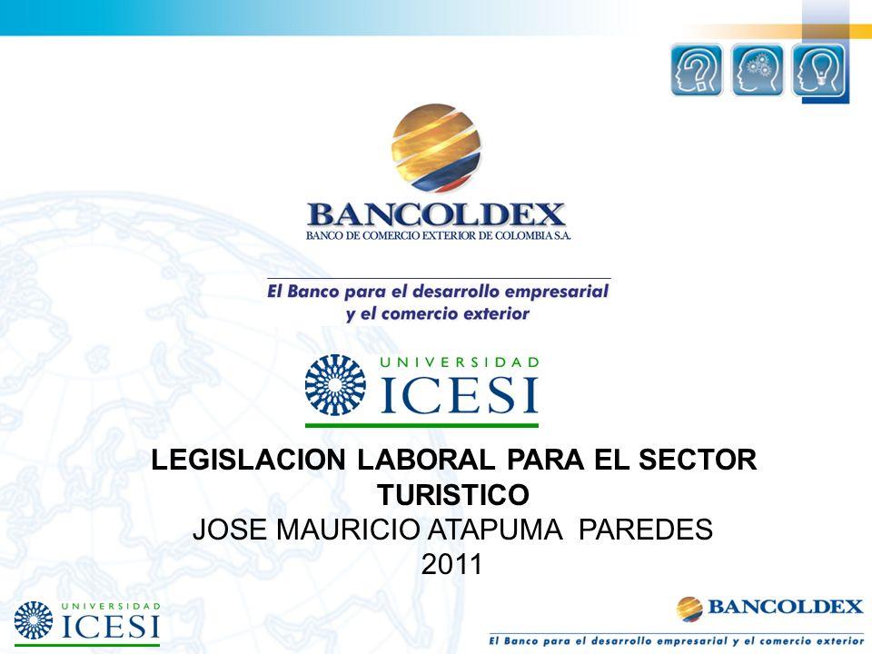 LEGISLACION LABORAL PARA EL SECTOR TURISTICO