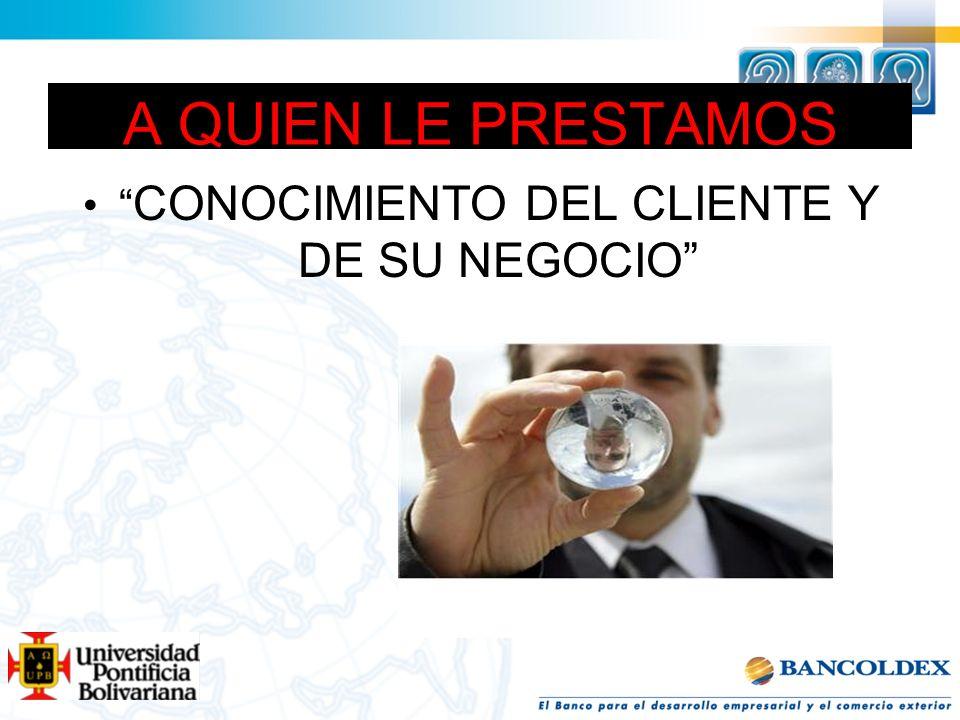 CONOCIMIENTO DEL CLIENTE Y DE SU NEGOCIO