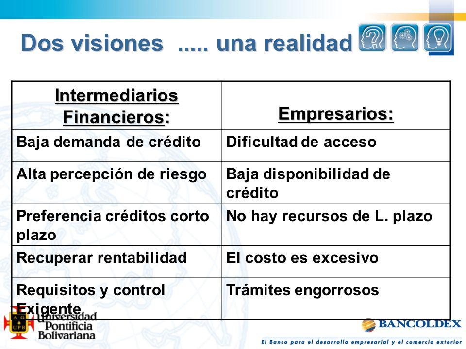 Intermediarios Financieros: