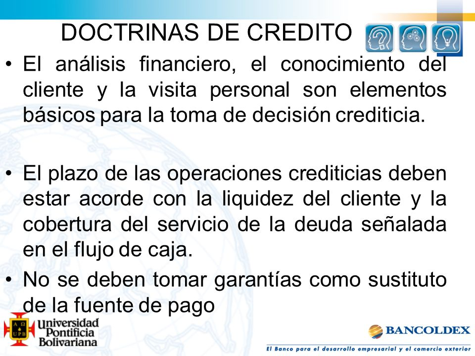 DOCTRINAS DE CREDITO