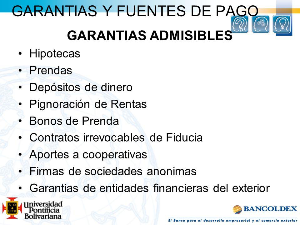 GARANTIAS Y FUENTES DE PAGO