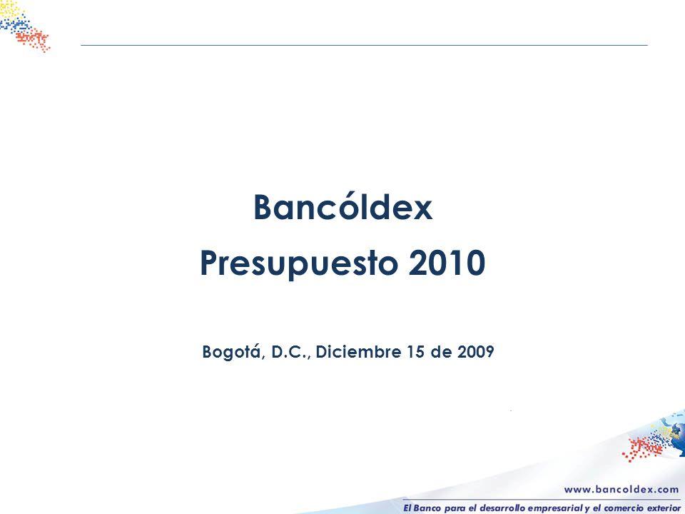 Bancóldex Presupuesto 2010