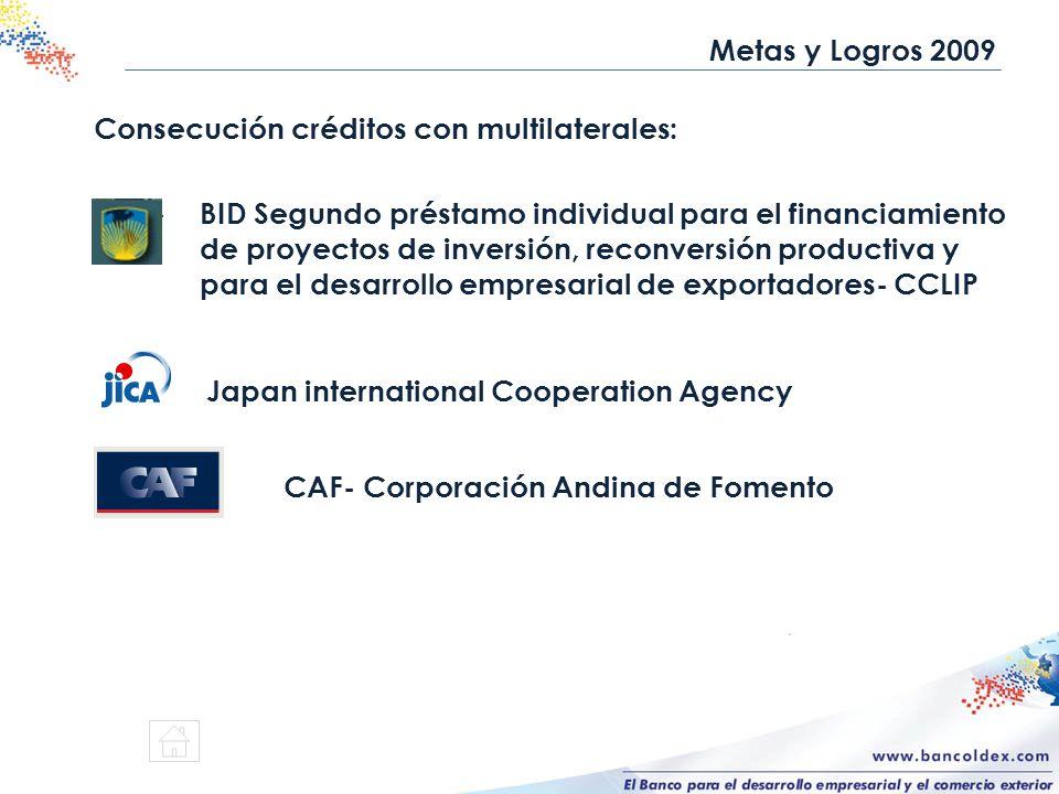 Consecución créditos con multilaterales: