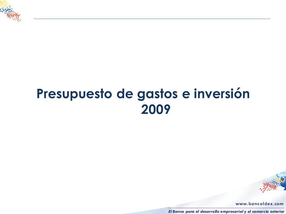 Presupuesto de gastos e inversión 2009