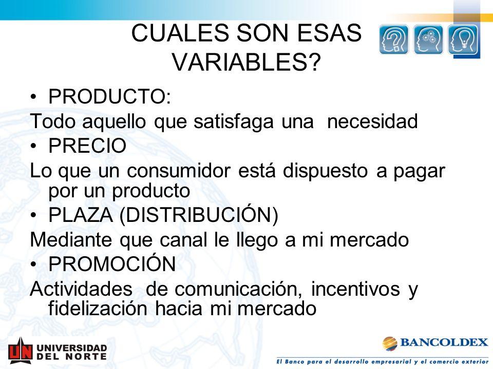 CUALES SON ESAS VARIABLES