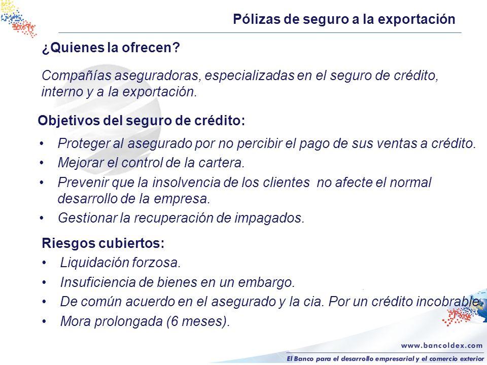 Pólizas de seguro a la exportación