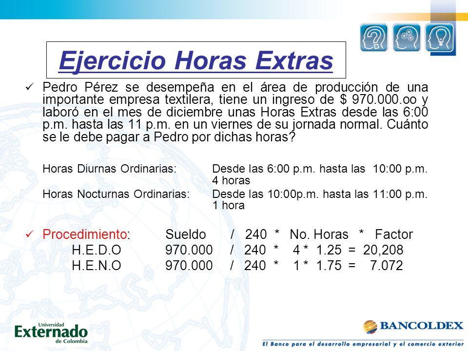 Ejercicio Horas Extras