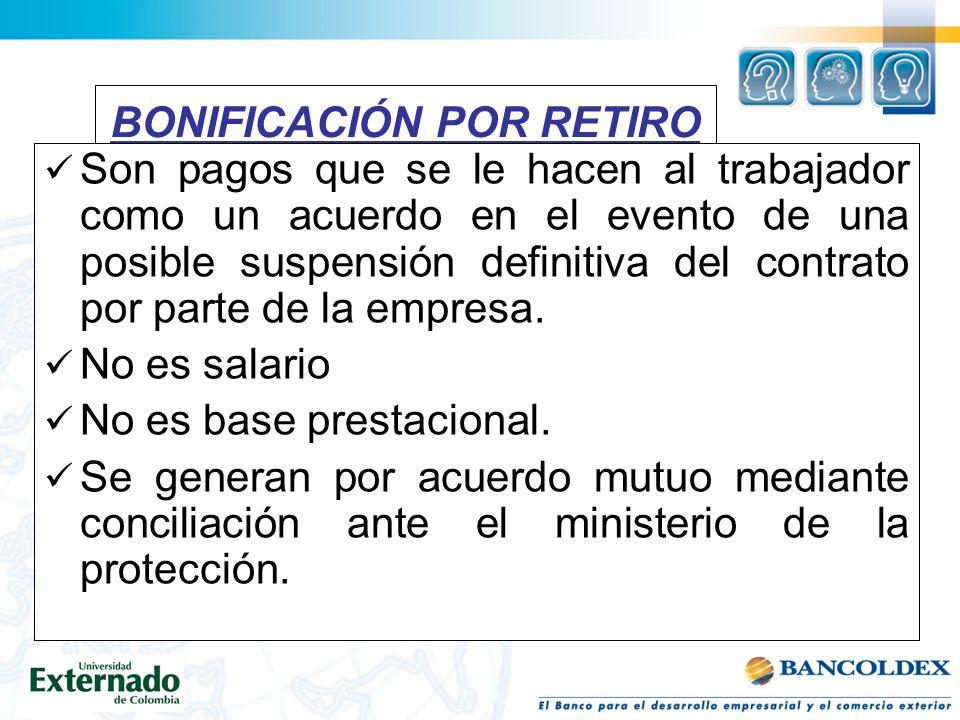 BONIFICACIÓN POR RETIRO
