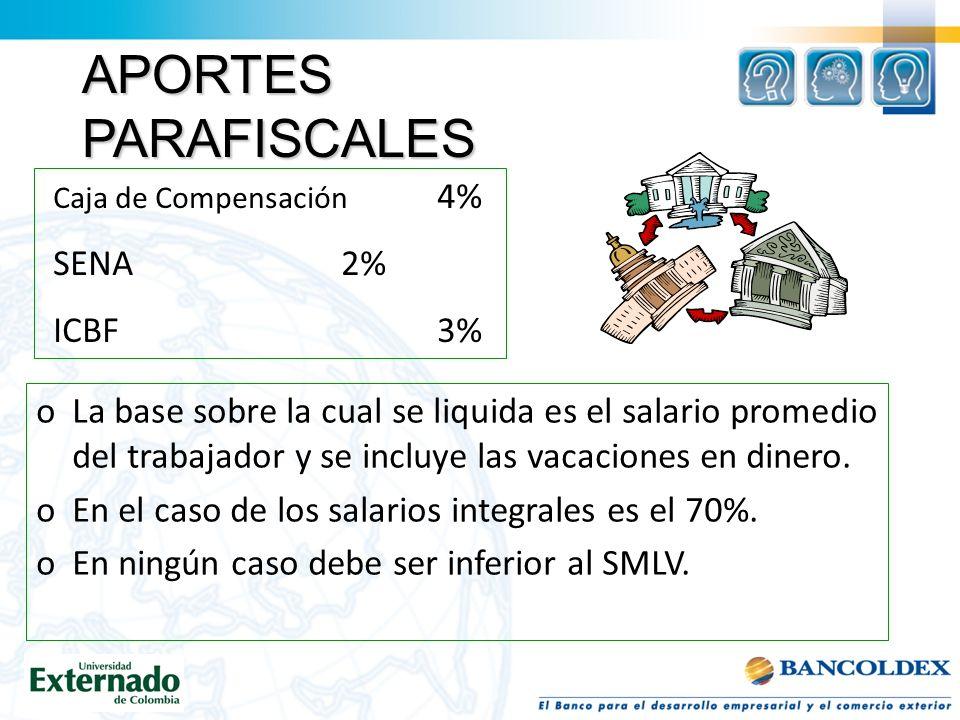 APORTES PARAFISCALES SENA 2% ICBF 3%