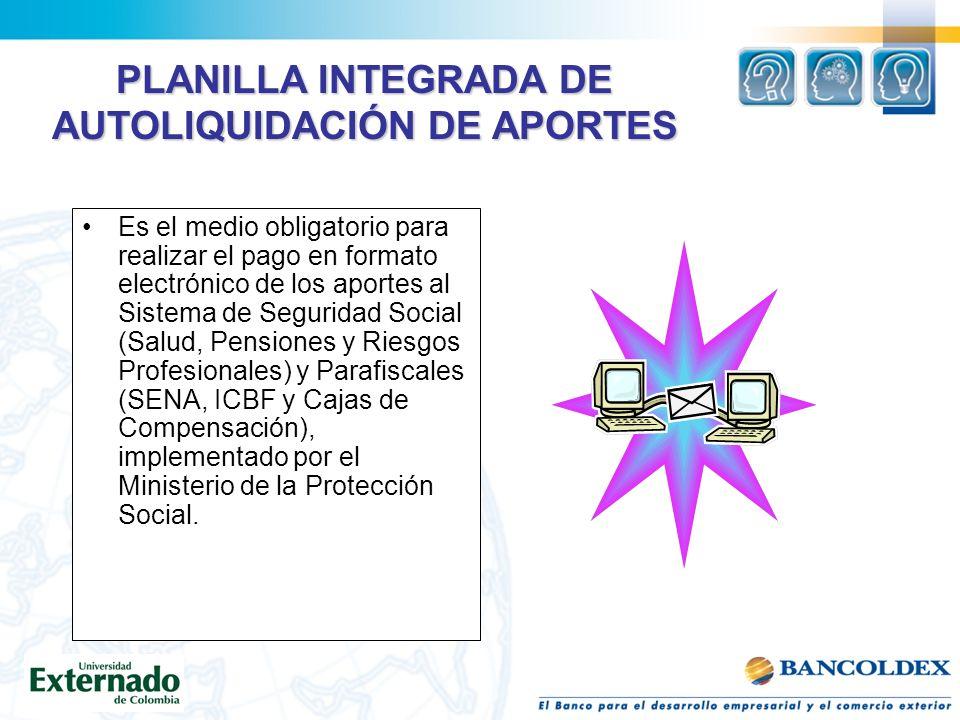PLANILLA INTEGRADA DE AUTOLIQUIDACIÓN DE APORTES