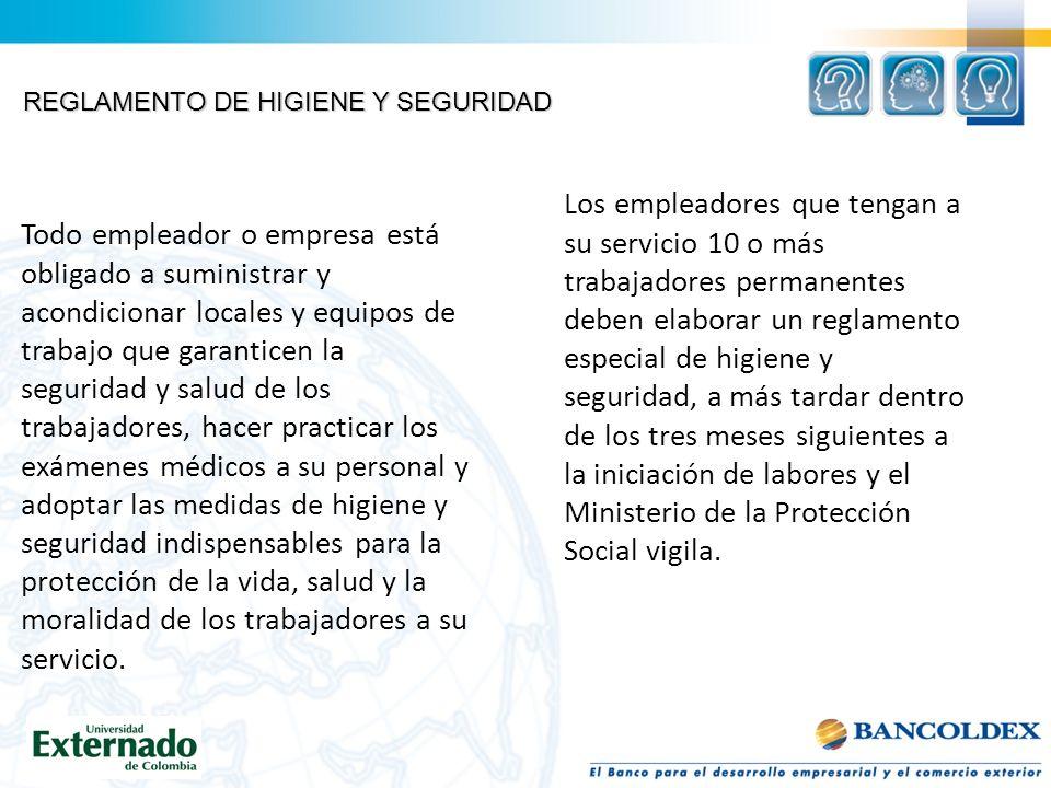 REGLAMENTO DE HIGIENE Y SEGURIDAD