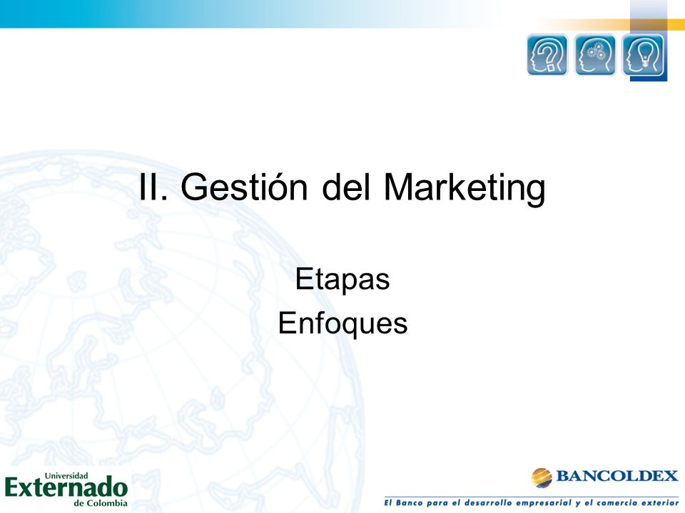 II. Gestión del Marketing