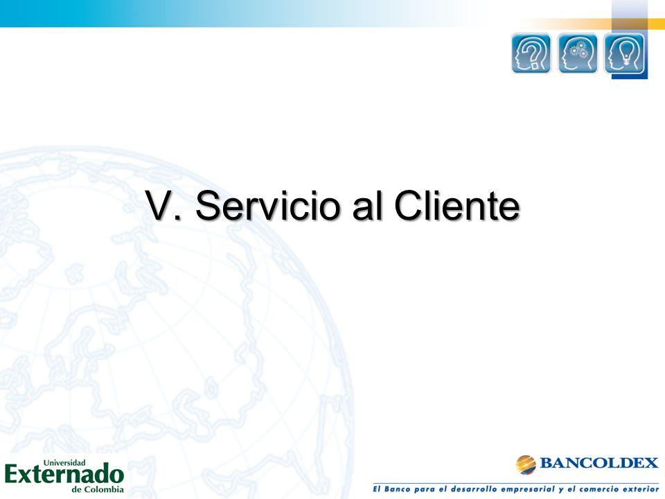 V. Servicio al Cliente