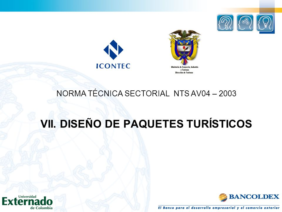 NORMA TÉCNICA SECTORIAL NTS AV04 – 2003 VII