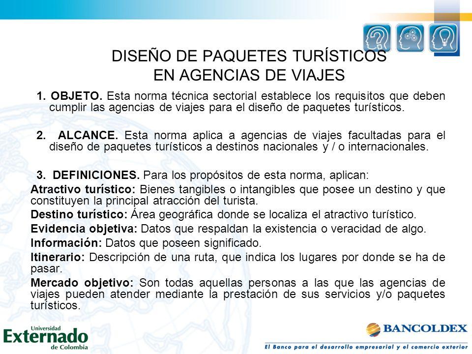 DISEÑO DE PAQUETES TURÍSTICOS EN AGENCIAS DE VIAJES