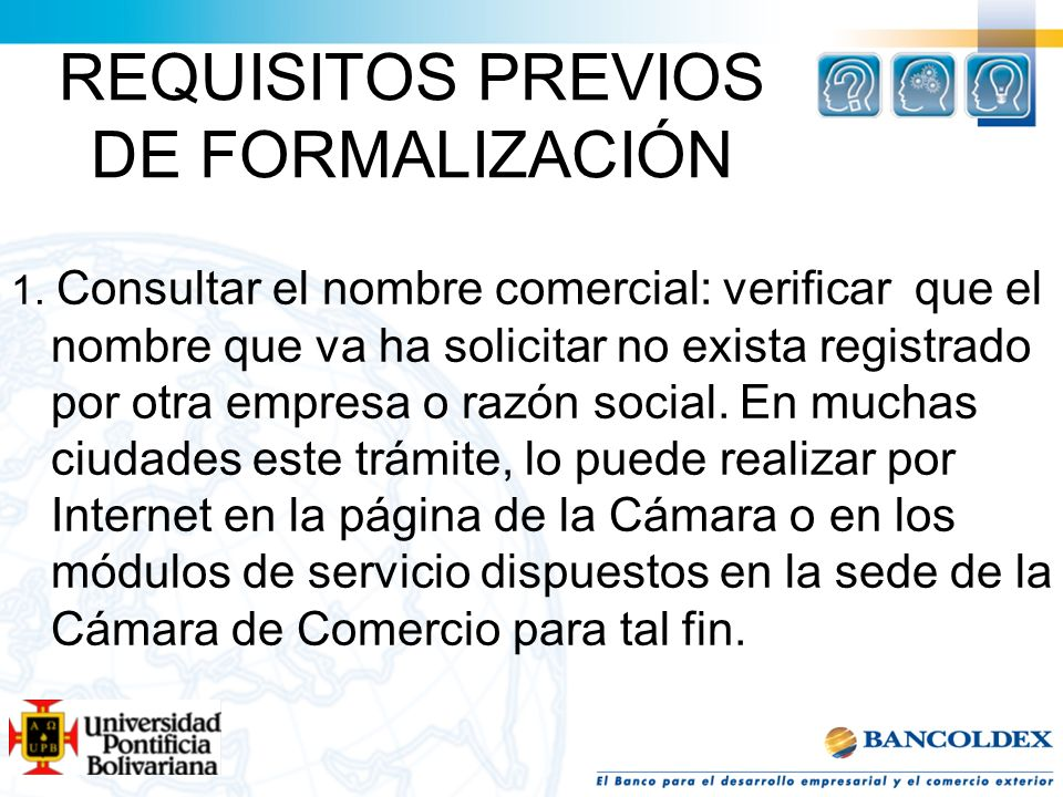 REQUISITOS PREVIOS DE FORMALIZACIÓN
