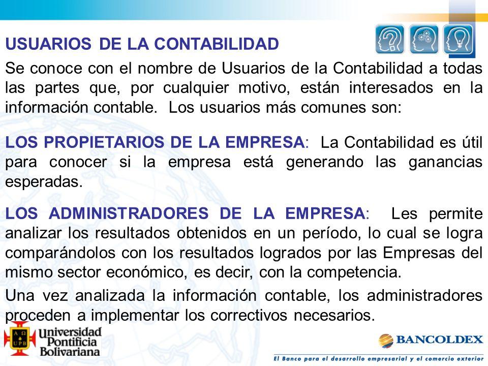 USUARIOS DE LA CONTABILIDAD