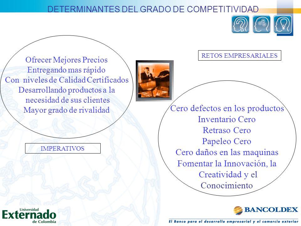 DETERMINANTES DEL GRADO DE COMPETITIVIDAD