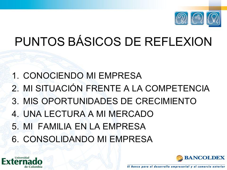 PUNTOS BÁSICOS DE REFLEXION