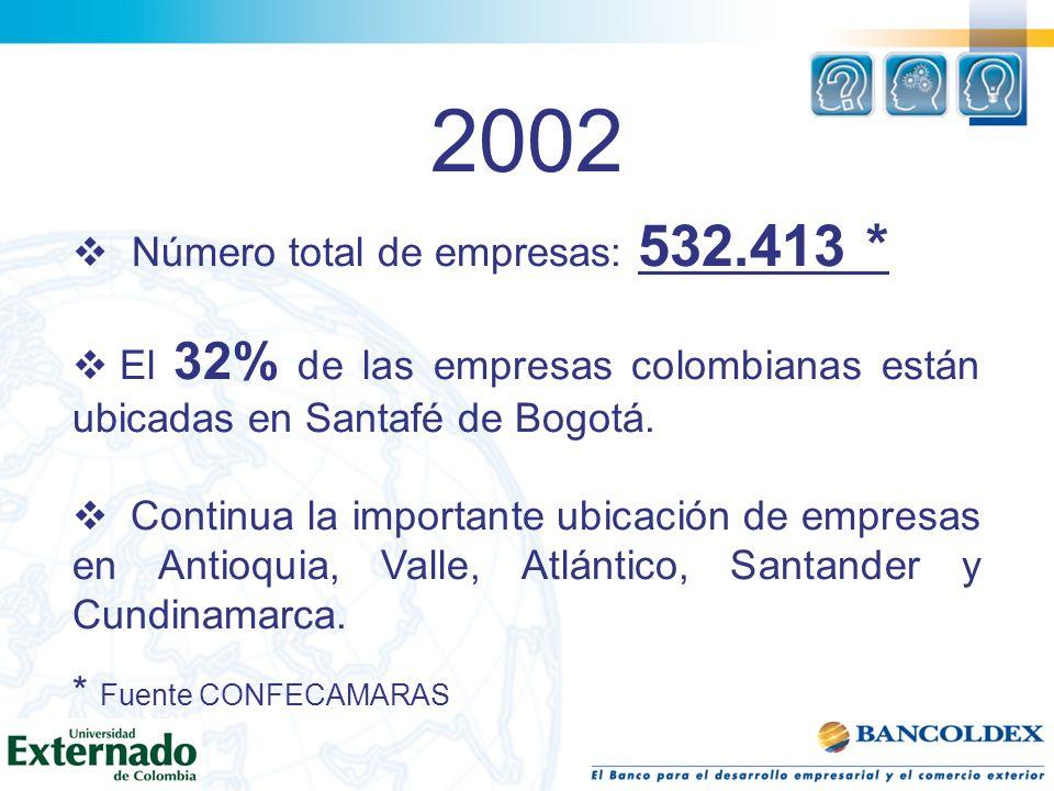 2002 Número total de empresas: 532.413 *