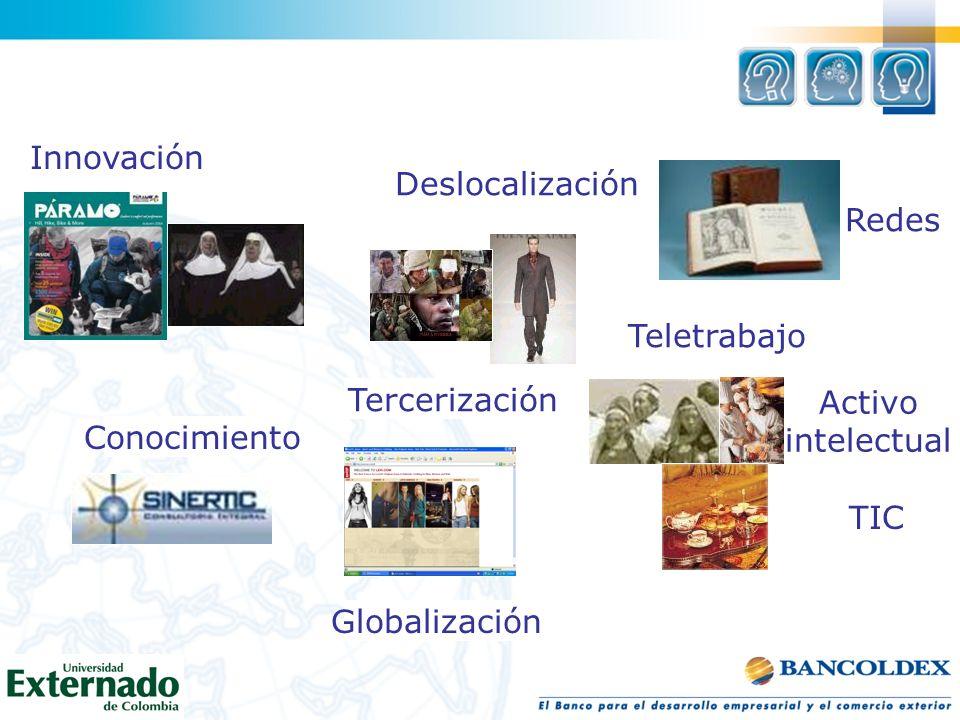 Innovación Deslocalización. Redes. Teletrabajo. Tercerización. Activo. intelectual. Conocimiento.