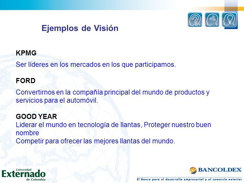 Ejemplos de Visión KPMG
