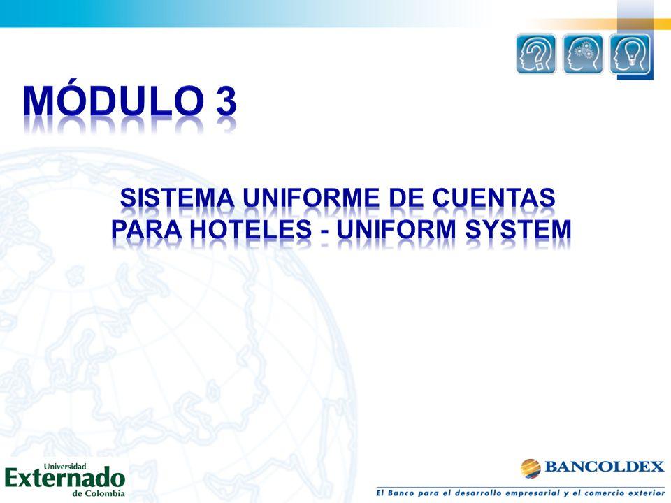 SISTEMA UNIFORME DE CUENTAS PARA HOTELES - UNIFORM SYSTEM