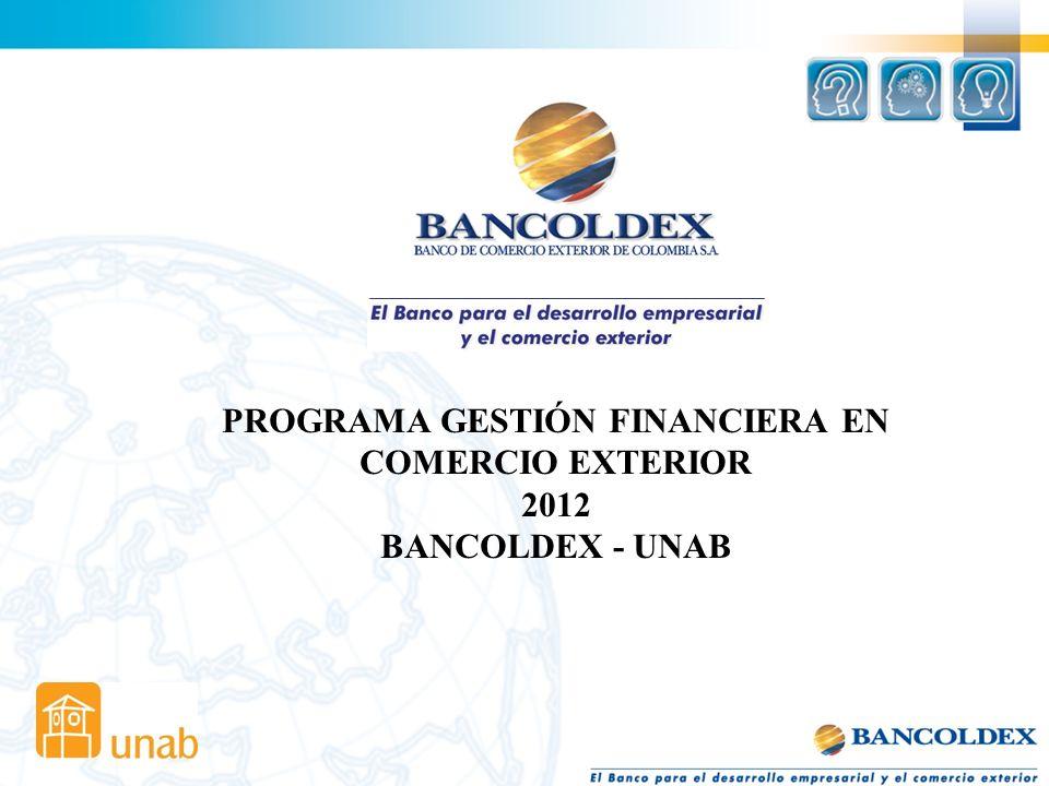 PROGRAMA GESTIÓN FINANCIERA EN COMERCIO EXTERIOR