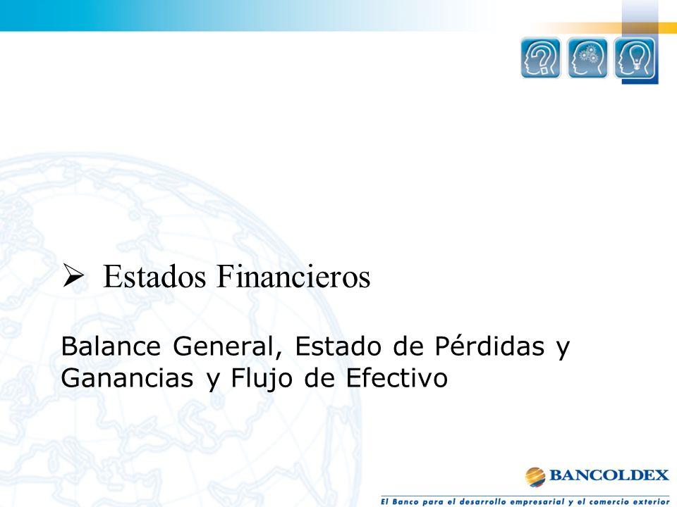 Balance General, Estado de Pérdidas y Ganancias y Flujo de Efectivo