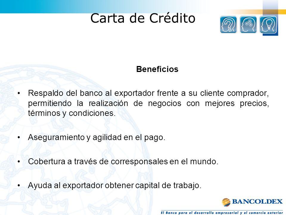 Carta de Crédito Beneficios