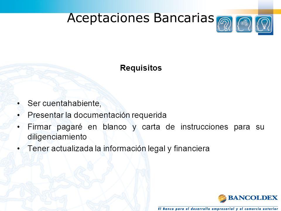 Aceptaciones Bancarias
