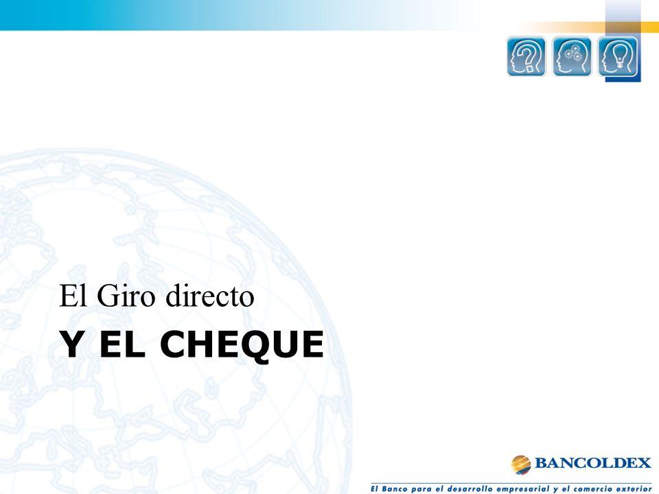 El Giro directo y el cheque