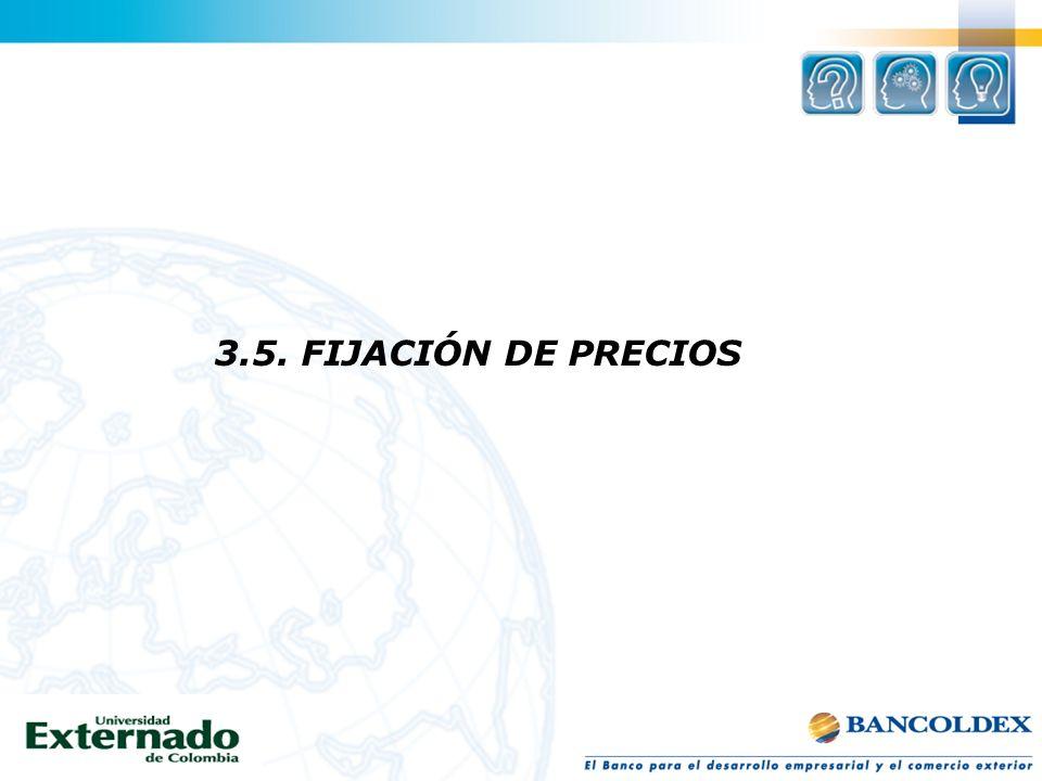 3.5. FIJACIÓN DE PRECIOS