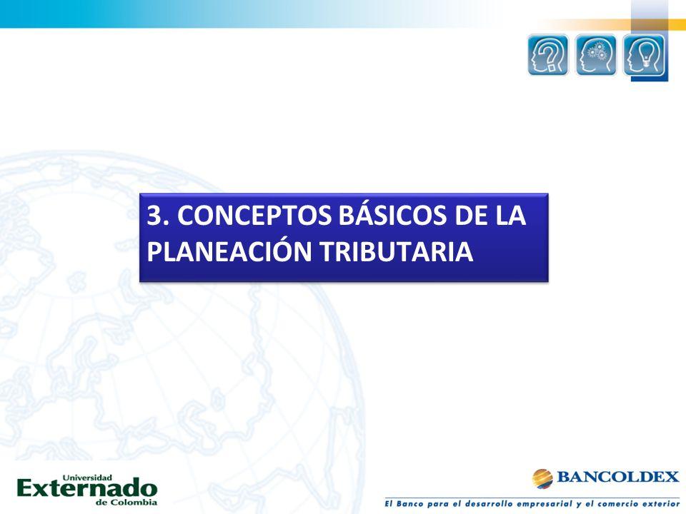 3. CONCEPTOS BÁSICOS DE LA PLANEACIÓN TRIBUTARIA