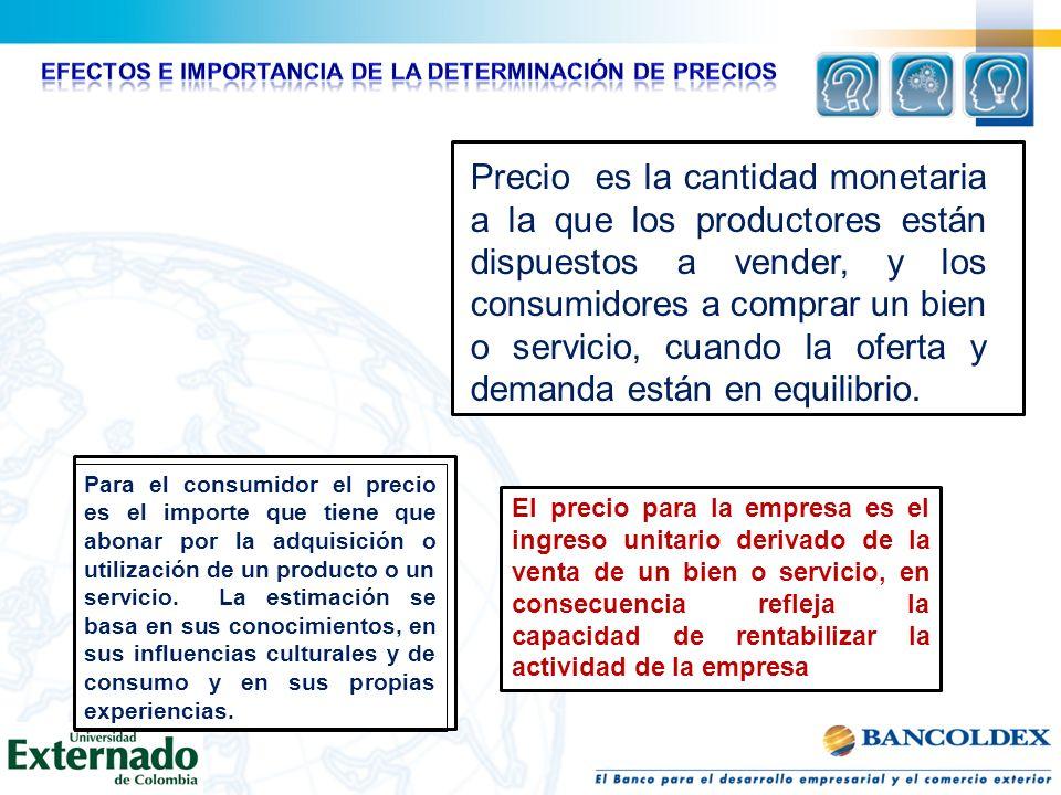 EFECTOS E IMPORTANCIA DE LA DETERMINACIÓN DE PRECIOS