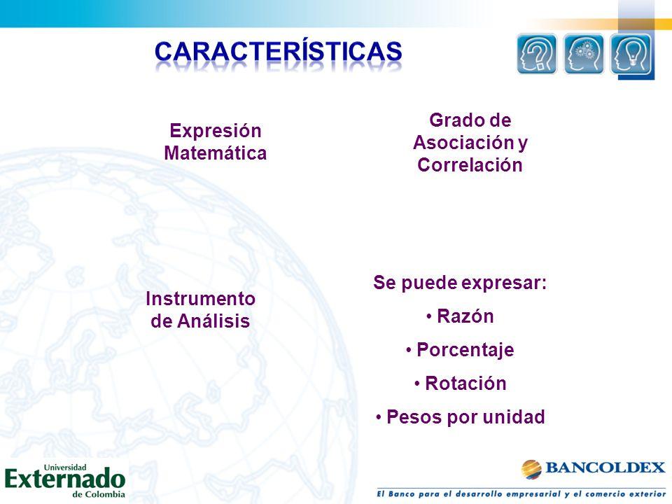 Grado de Asociación y Correlación Instrumento de Análisis