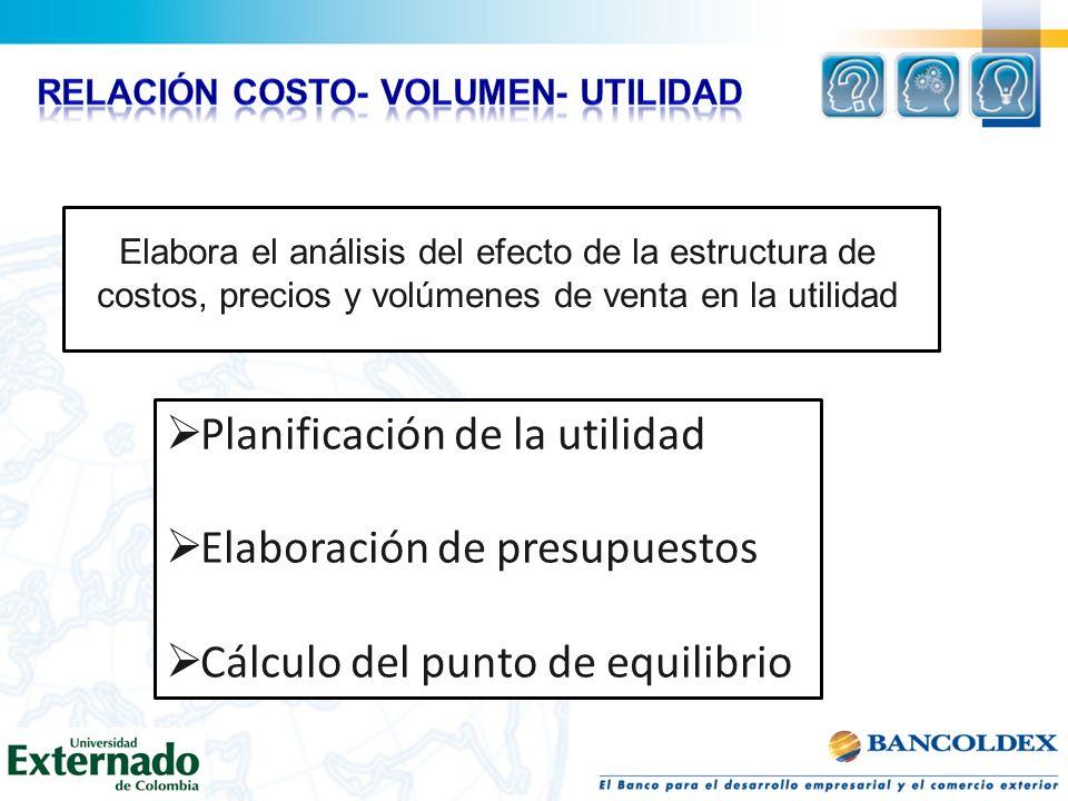 Relación costo- volumen- utilidad