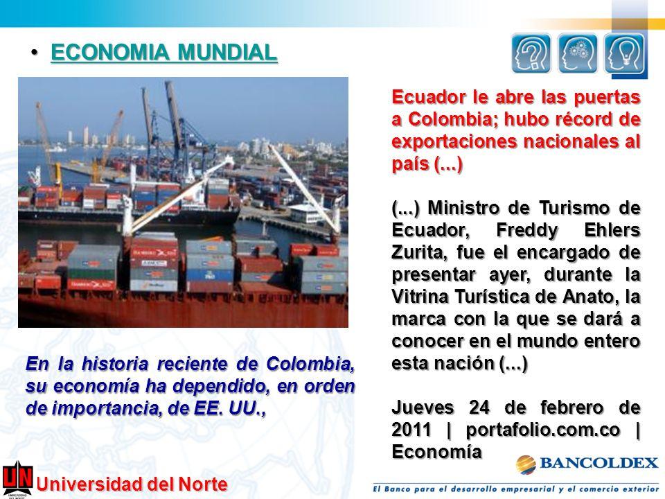ECONOMIA MUNDIAL Ecuador le abre las puertas a Colombia; hubo récord de exportaciones nacionales al país (...)