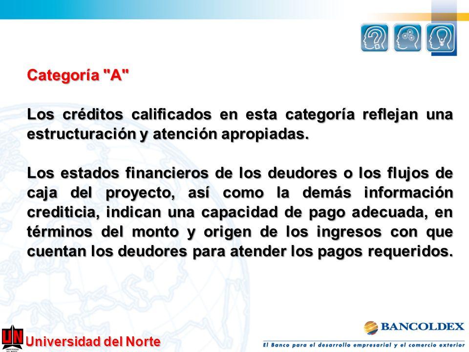 Categoría A Los créditos calificados en esta categoría reflejan una estructuración y atención apropiadas.