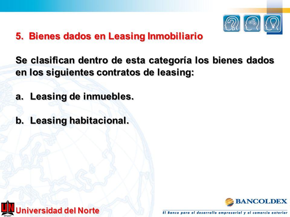 5. Bienes dados en Leasing Inmobiliario