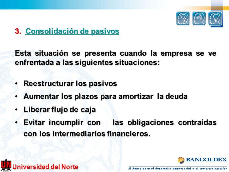 3. Consolidación de pasivos