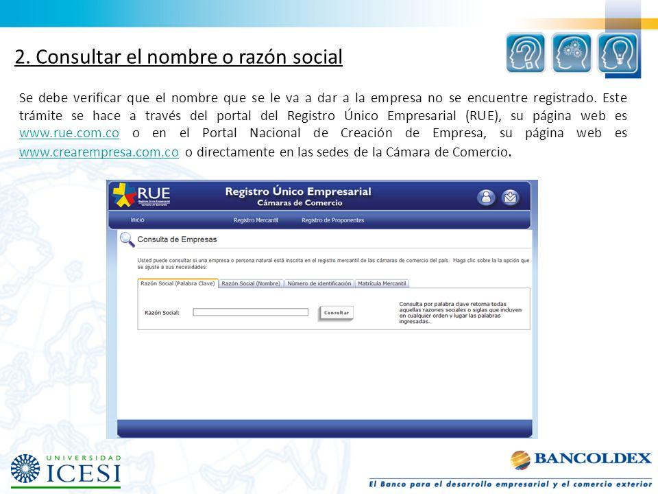 2. Consultar el nombre o razón social