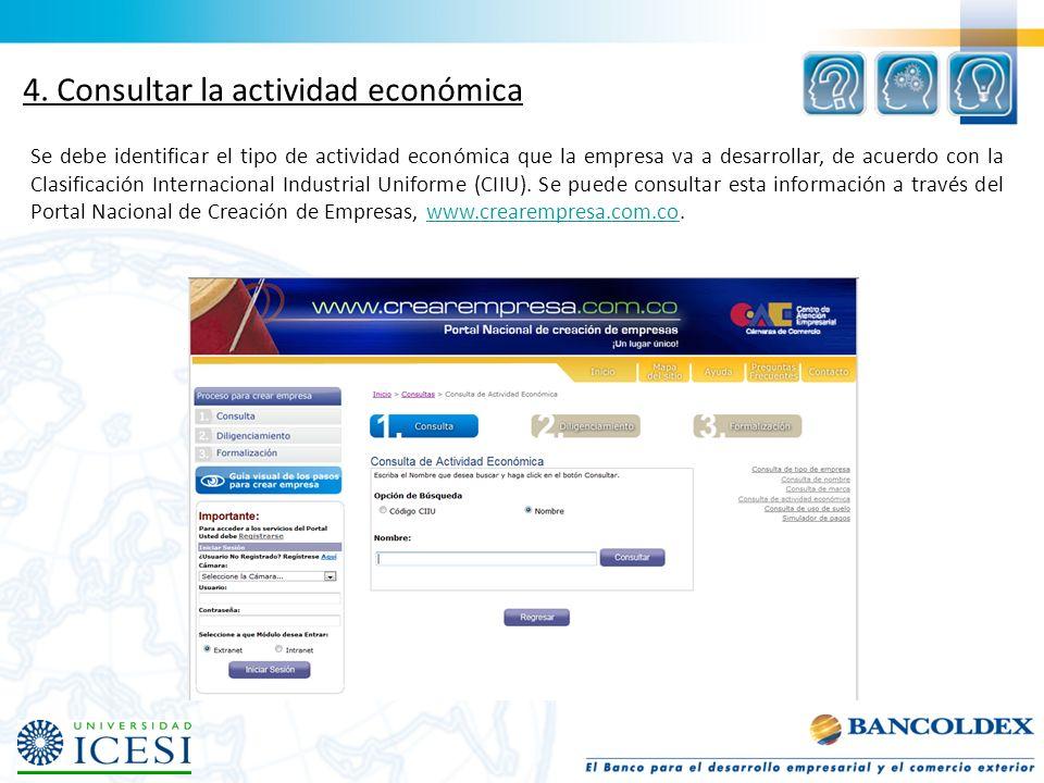 4. Consultar la actividad económica