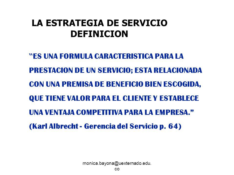 LA ESTRATEGIA DE SERVICIO DEFINICION